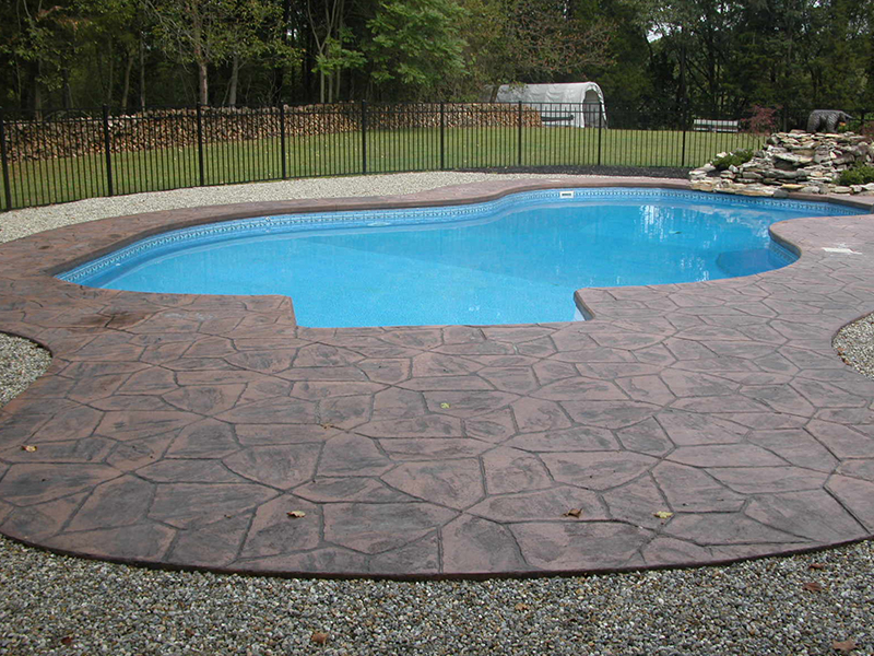 swimming pools hackettstown stamp concrete